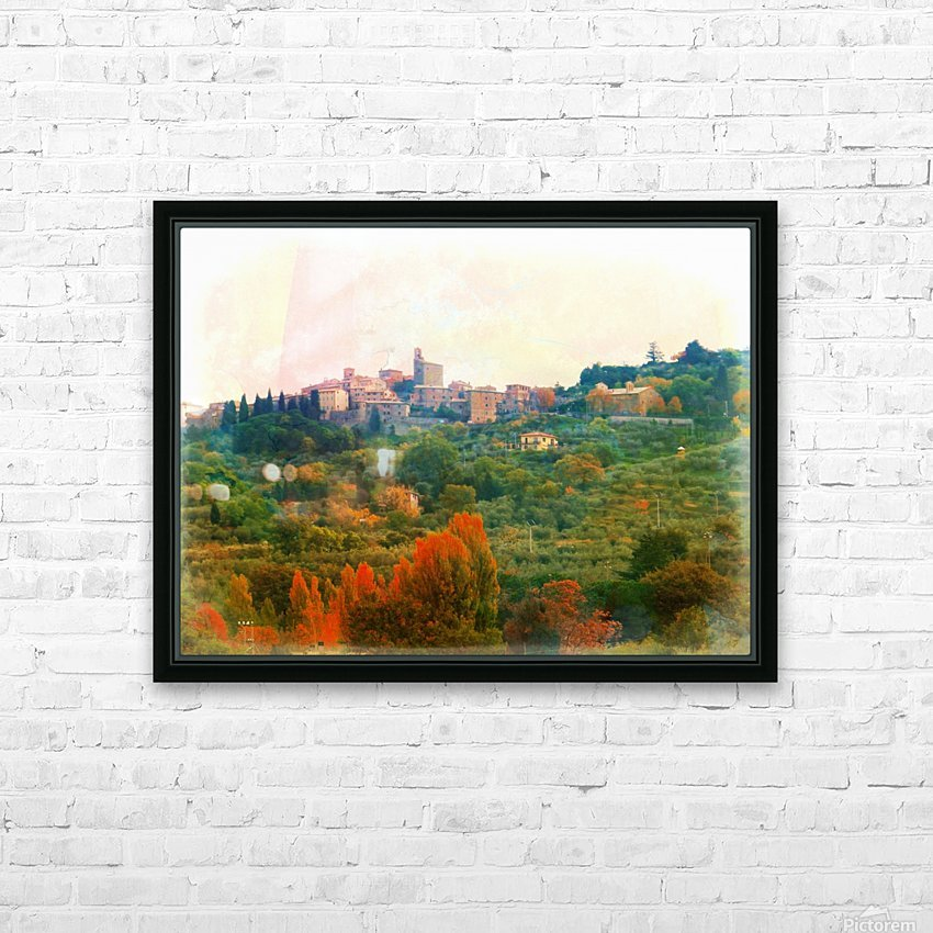 Panicale in Fall HD Sublimation Metal print with Decorating Float Frame (BOX)