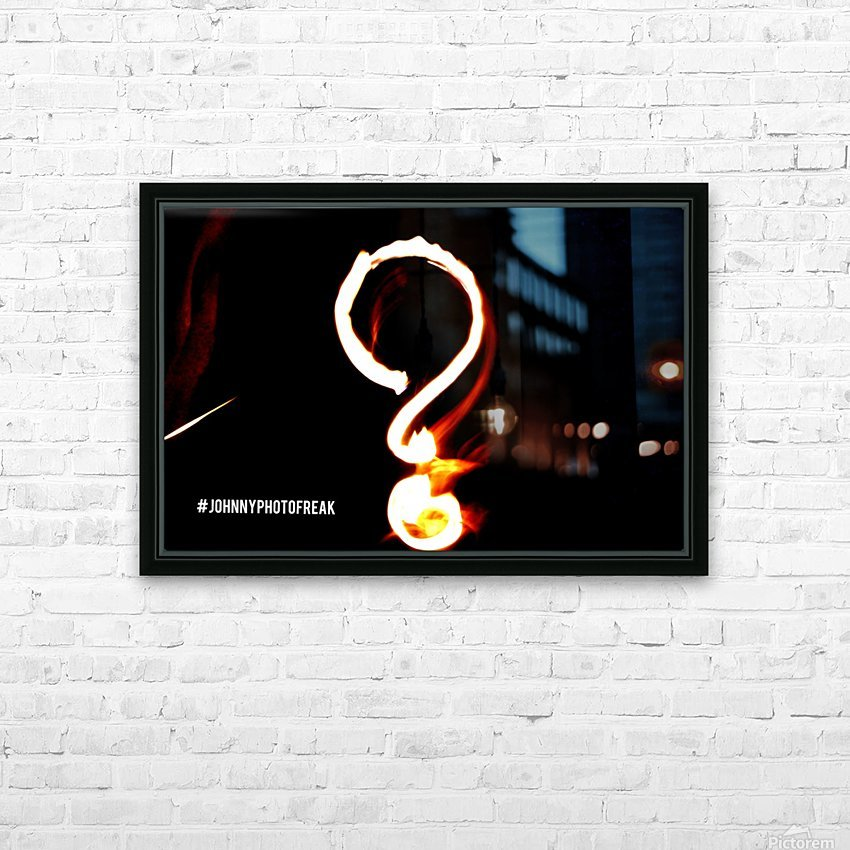 Question Mark  HD Sublimation Metal print with Decorating Float Frame (BOX)