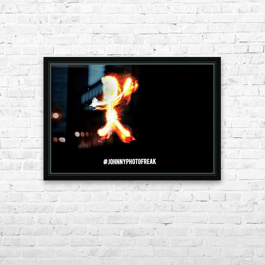 Fire Stickman HD Sublimation Metal print with Decorating Float Frame (BOX)