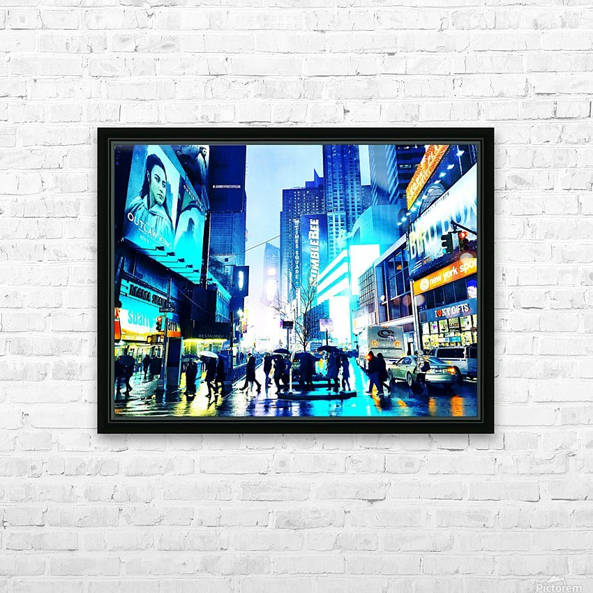Time square New-York  HD Sublimation Metal print with Decorating Float Frame (BOX)