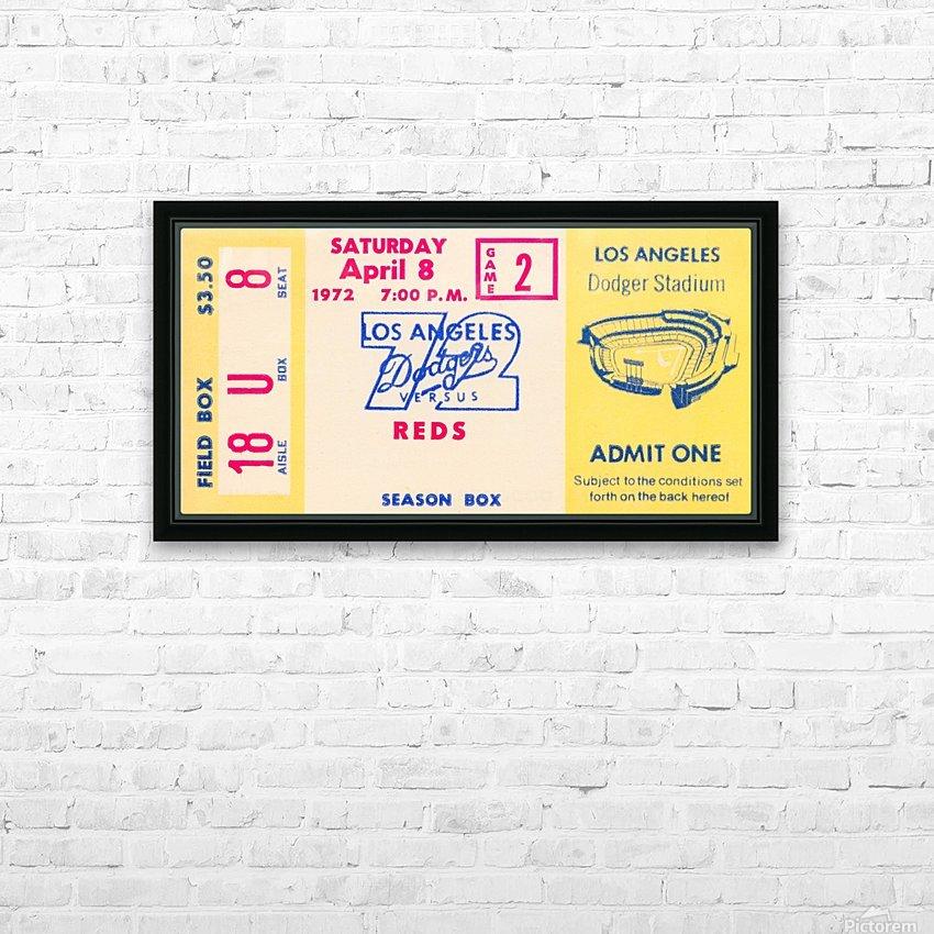 1972 la dodgers field level box baseball ticket stub canvas art HD Sublimation Metal print with Decorating Float Frame (BOX)