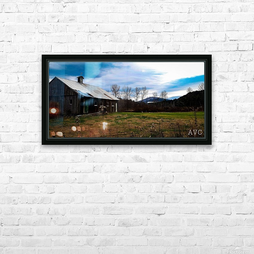 On the Way to the Mountains HD Sublimation Metal print with Decorating Float Frame (BOX)