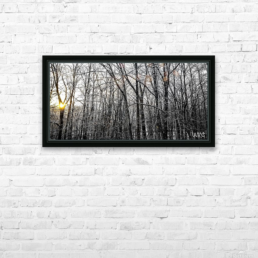 Through the Icy Trees HD Sublimation Metal print with Decorating Float Frame (BOX)