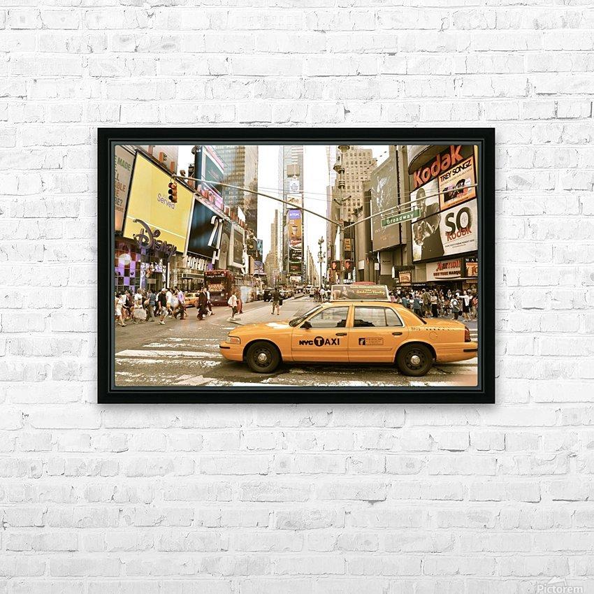 Newyork newyork HD Sublimation Metal print with Decorating Float Frame (BOX)