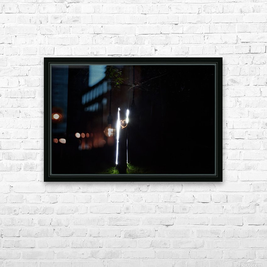 Fire graffiti on tree  HD Sublimation Metal print with Decorating Float Frame (BOX)