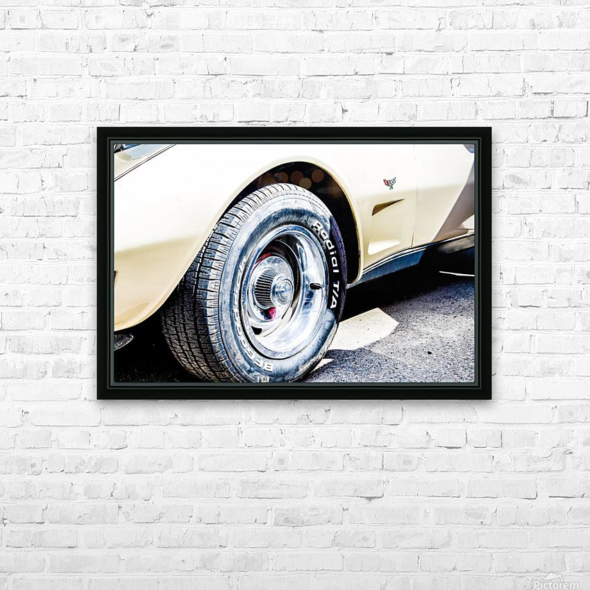 Old corvette  HD Sublimation Metal print with Decorating Float Frame (BOX)