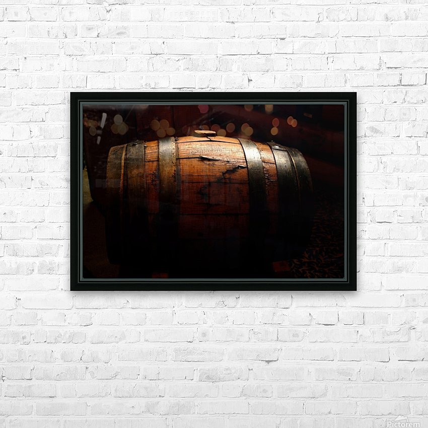 Old barrel HD Sublimation Metal print with Decorating Float Frame (BOX)