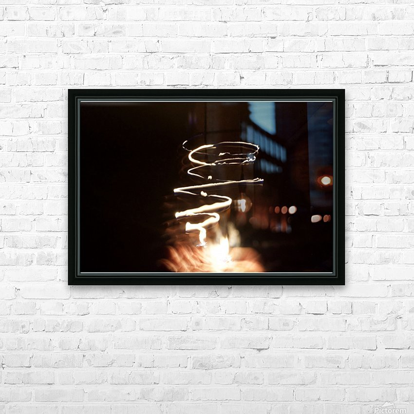 Fire twisted  HD Sublimation Metal print with Decorating Float Frame (BOX)