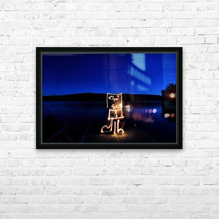 Fire sketch on the lake  HD Sublimation Metal print with Decorating Float Frame (BOX)