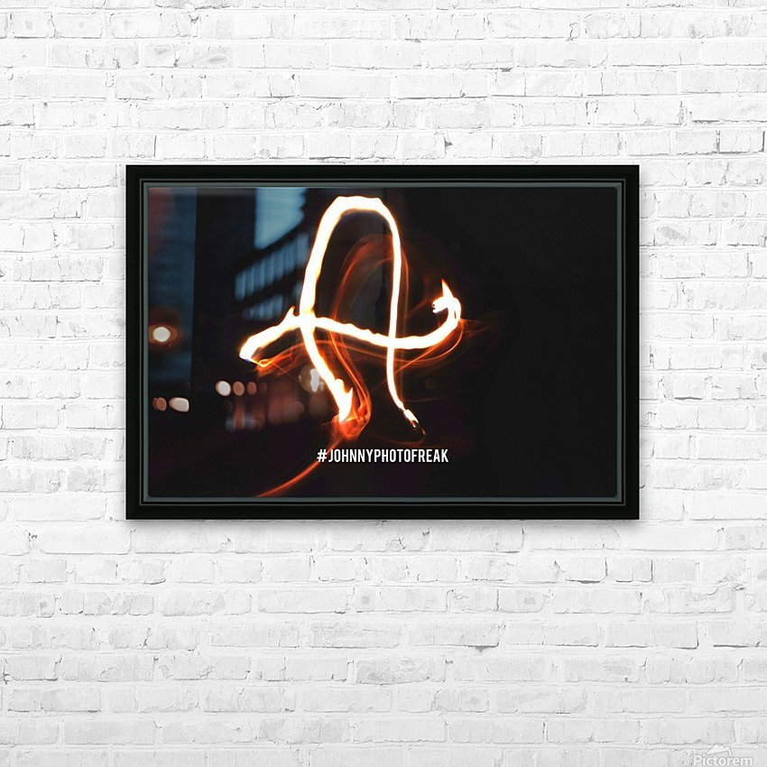 A Fire writing HD Sublimation Metal print with Decorating Float Frame (BOX)