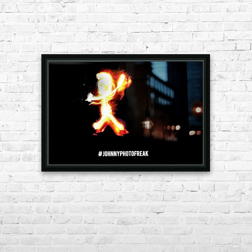 Fire Stick Man  HD Sublimation Metal print with Decorating Float Frame (BOX)