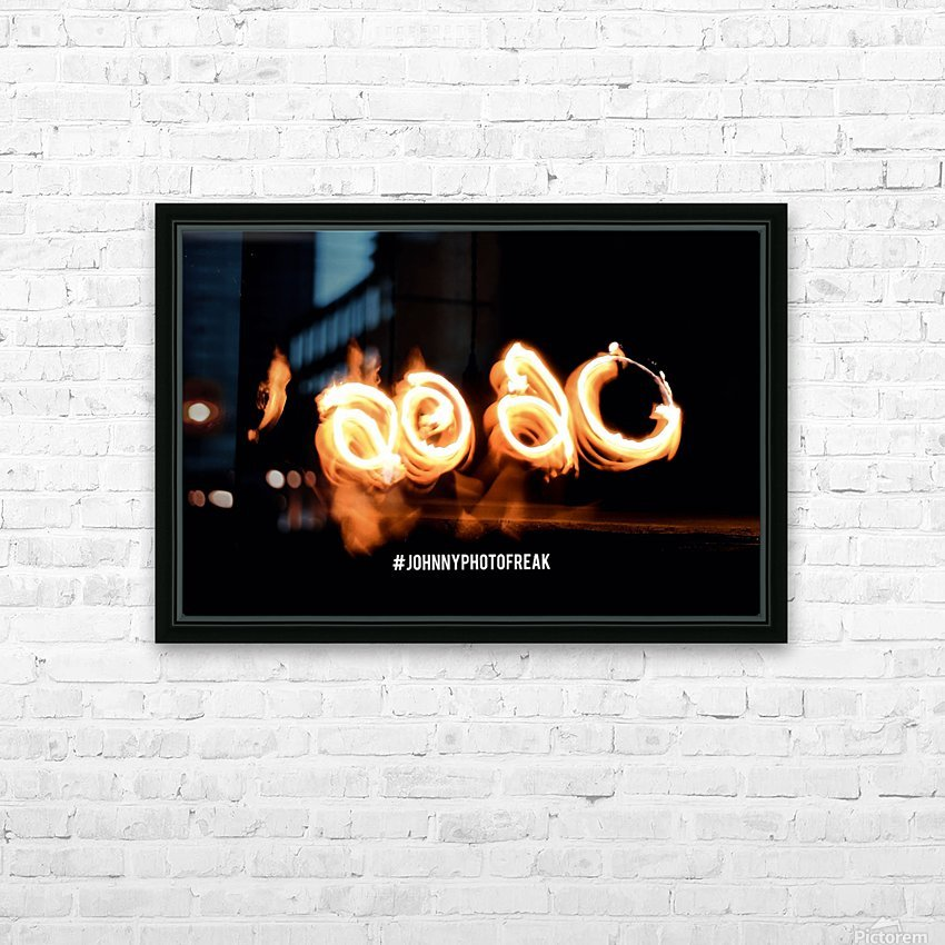 2020 Fire light painting HD Sublimation Metal print with Decorating Float Frame (BOX)
