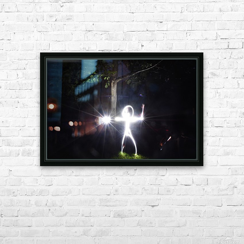 Stick man Series HD Sublimation Metal print with Decorating Float Frame (BOX)