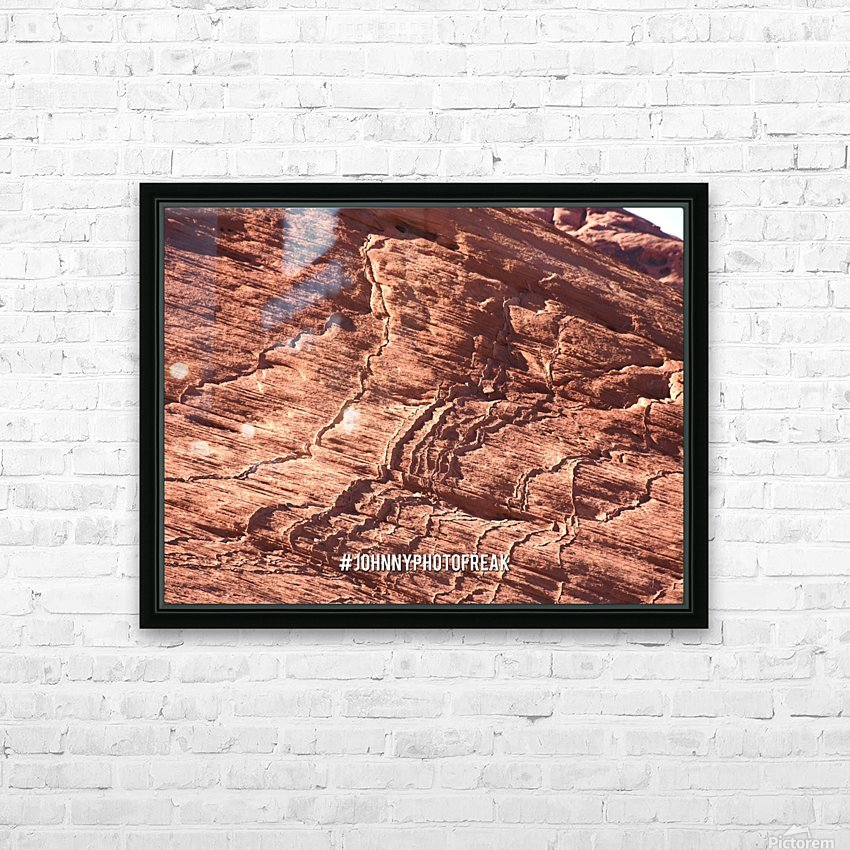 Rock canyon HD Sublimation Metal print with Decorating Float Frame (BOX)
