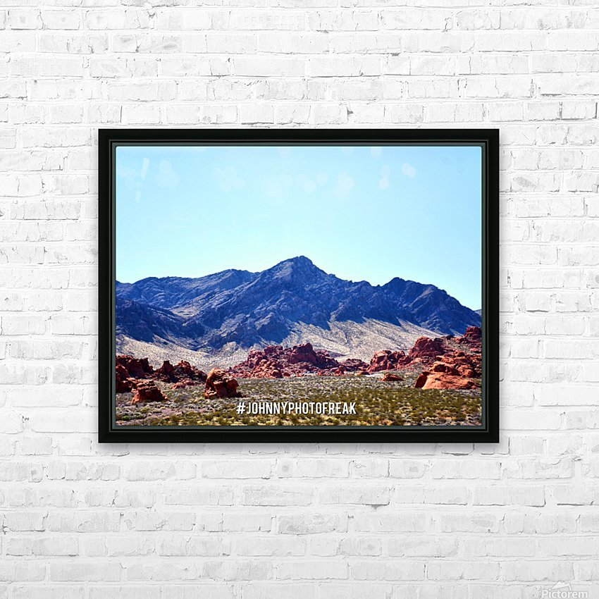 Canyon and mountain  HD Sublimation Metal print with Decorating Float Frame (BOX)