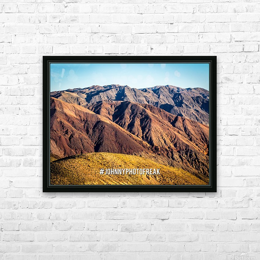 Death Valley HD Sublimation Metal print with Decorating Float Frame (BOX)