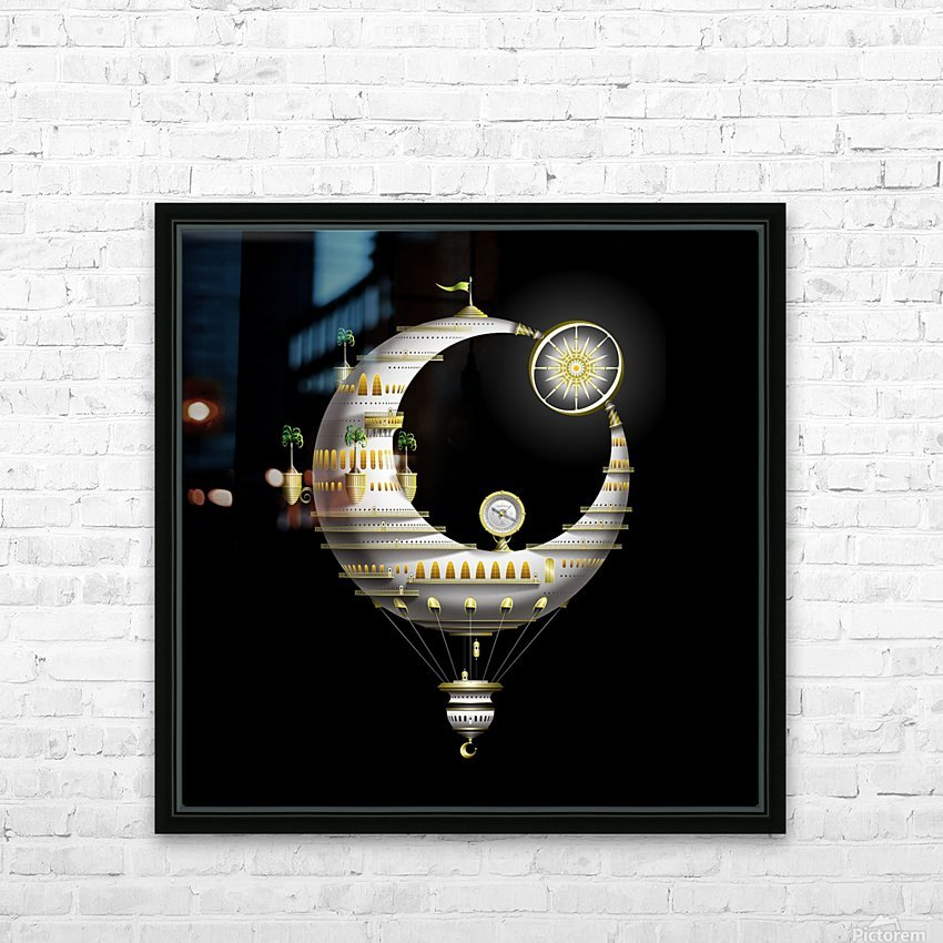 Marcelluna Balloone HD Sublimation Metal print with Decorating Float Frame (BOX)