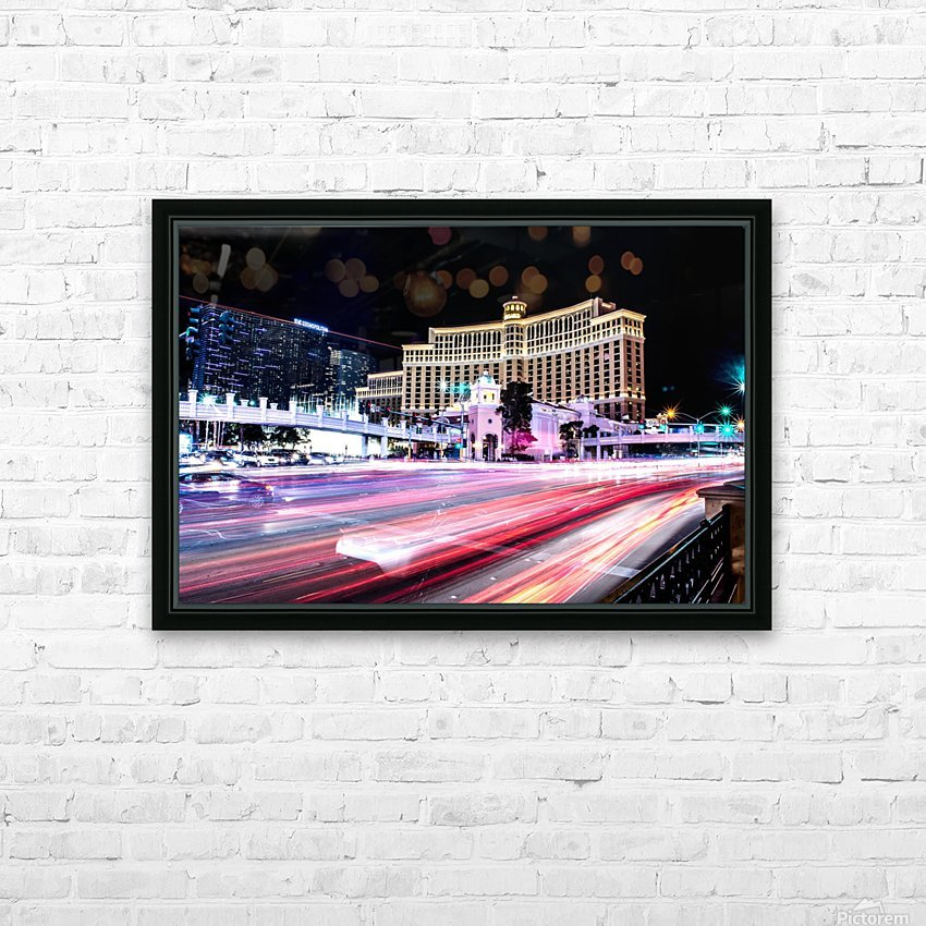 Las vegas night shot HD Sublimation Metal print with Decorating Float Frame (BOX)