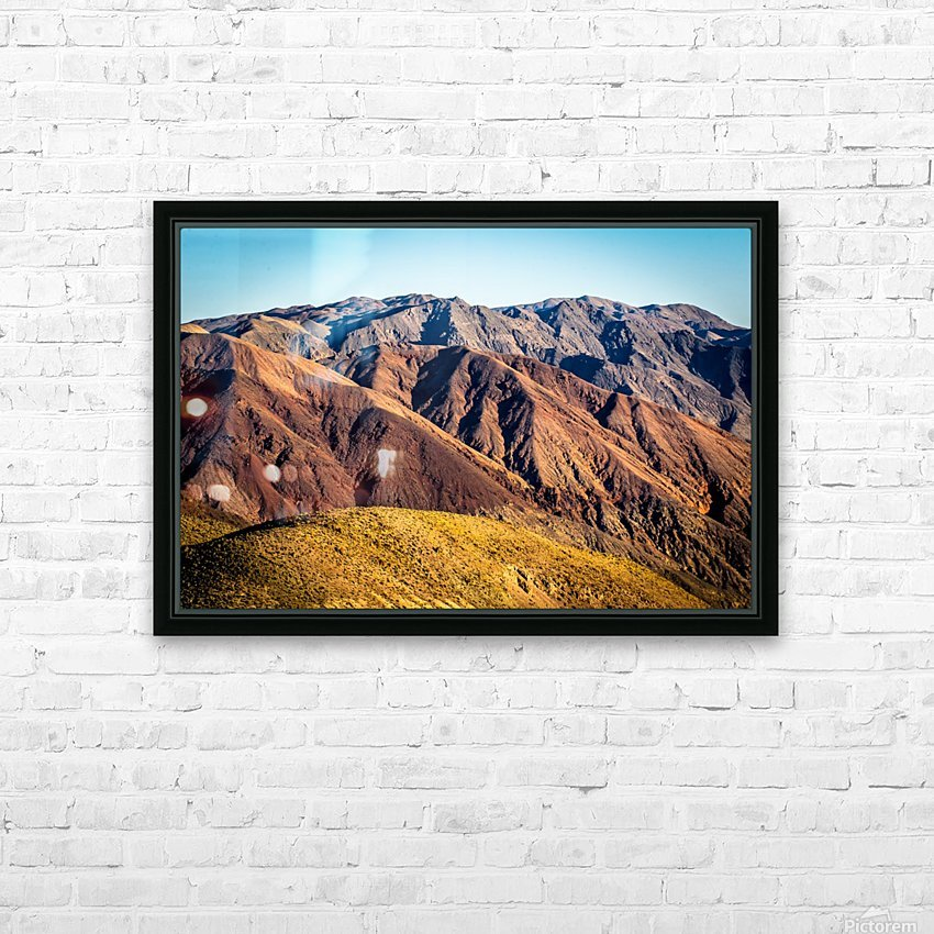Death Valley mountain HD Sublimation Metal print with Decorating Float Frame (BOX)