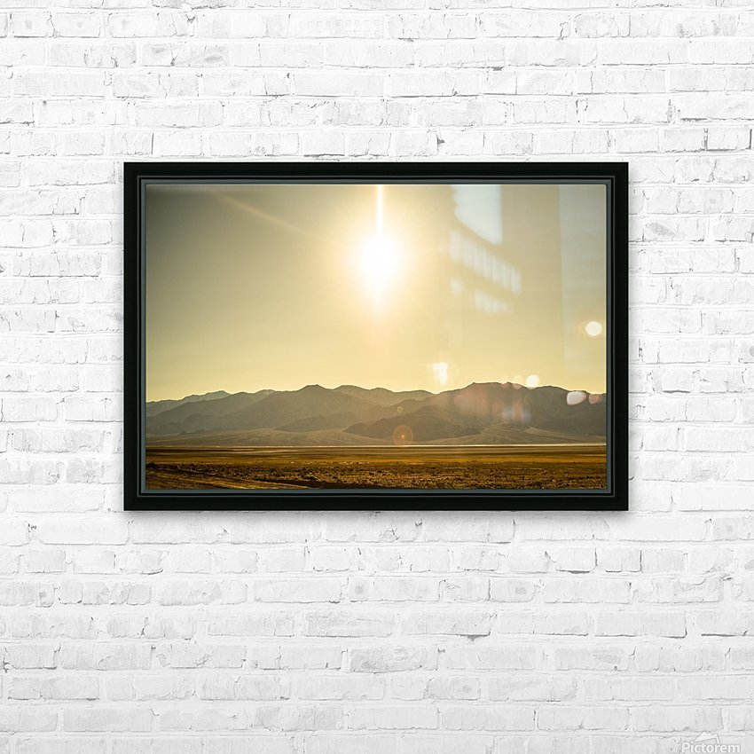Desert Sun  HD Sublimation Metal print with Decorating Float Frame (BOX)