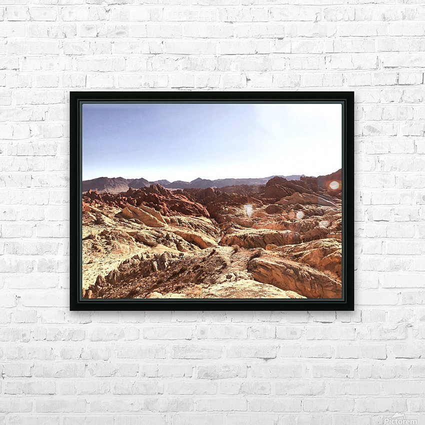 Canyon  HD Sublimation Metal print with Decorating Float Frame (BOX)