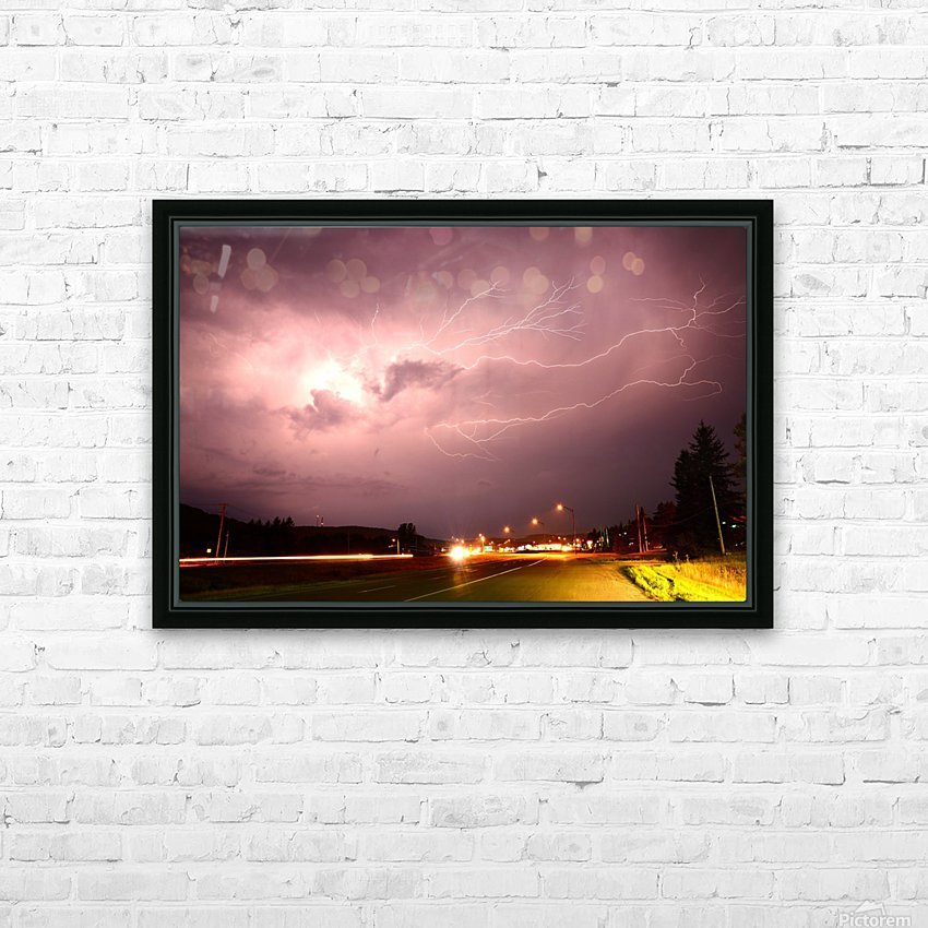 Lightning Catch HD Sublimation Metal print with Decorating Float Frame (BOX)