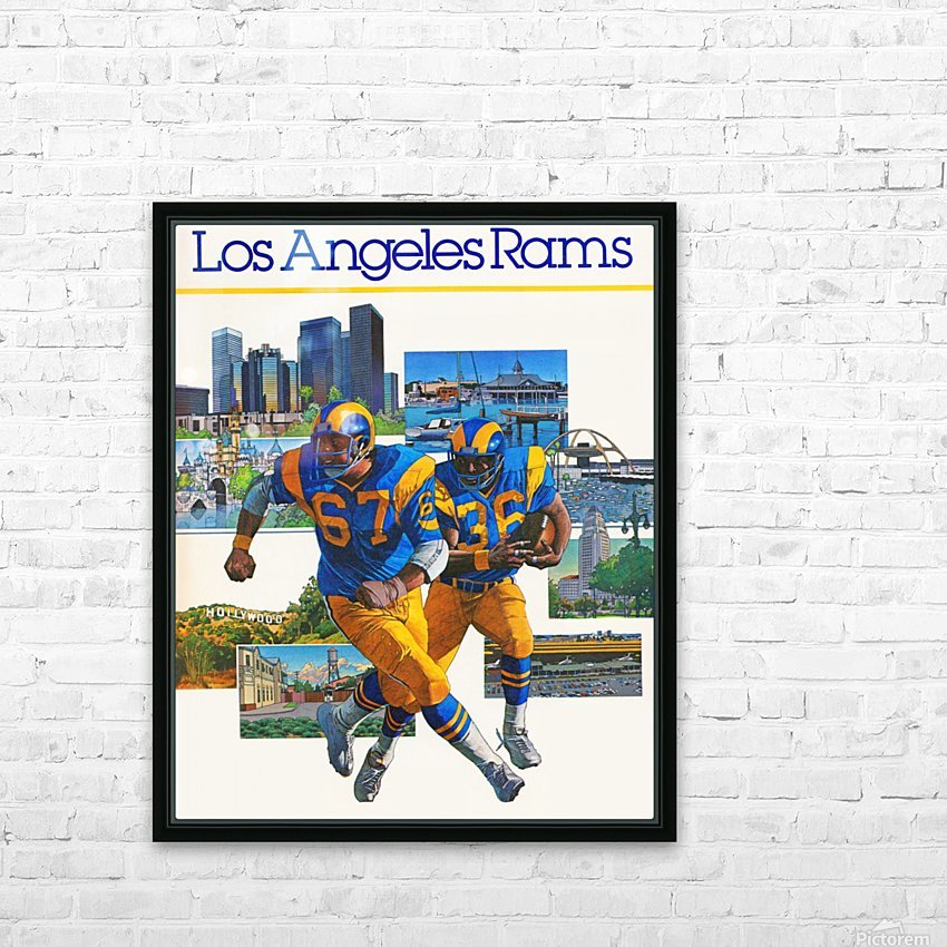1982 la rams downtown los angeles hollywood poster HD Sublimation Metal print with Decorating Float Frame (BOX)
