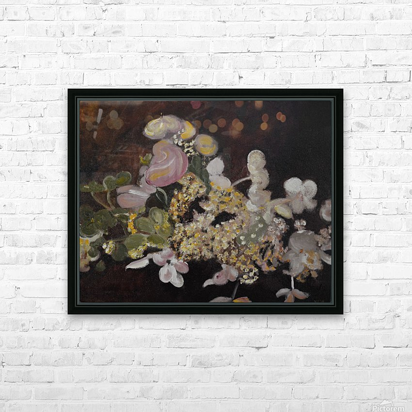 The Table Bouquet HD Sublimation Metal print with Decorating Float Frame (BOX)