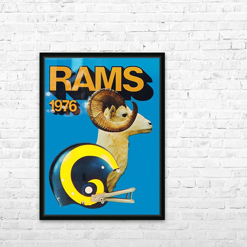 1976 Rams HD Sublimation Metal print with Decorating Float Frame (BOX)