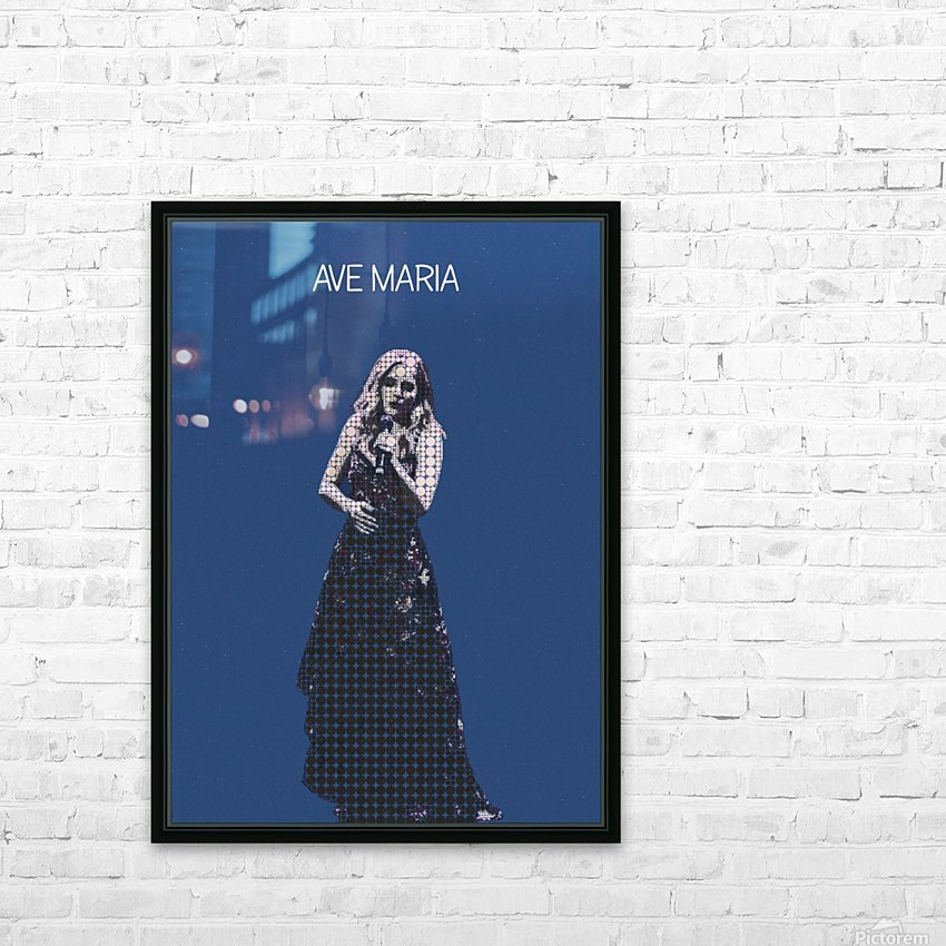 Ave Maria   Jackie Evancho HD Sublimation Metal print with Decorating Float Frame (BOX)