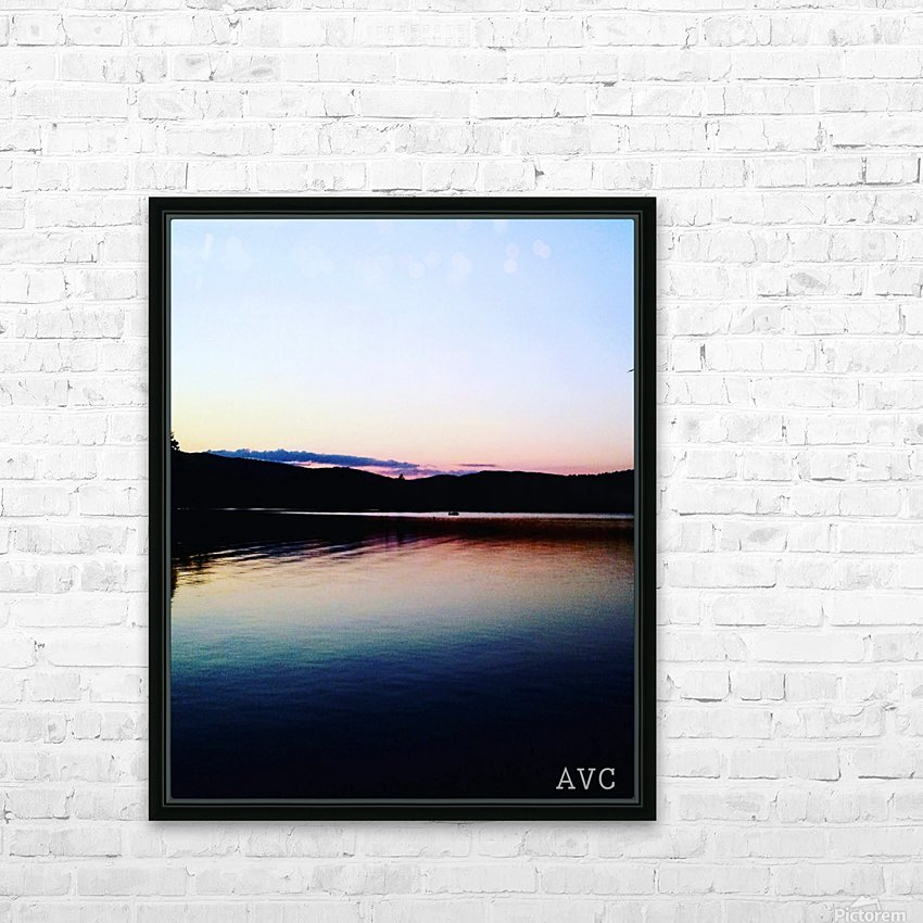 Vermont Sunset HD Sublimation Metal print with Decorating Float Frame (BOX)
