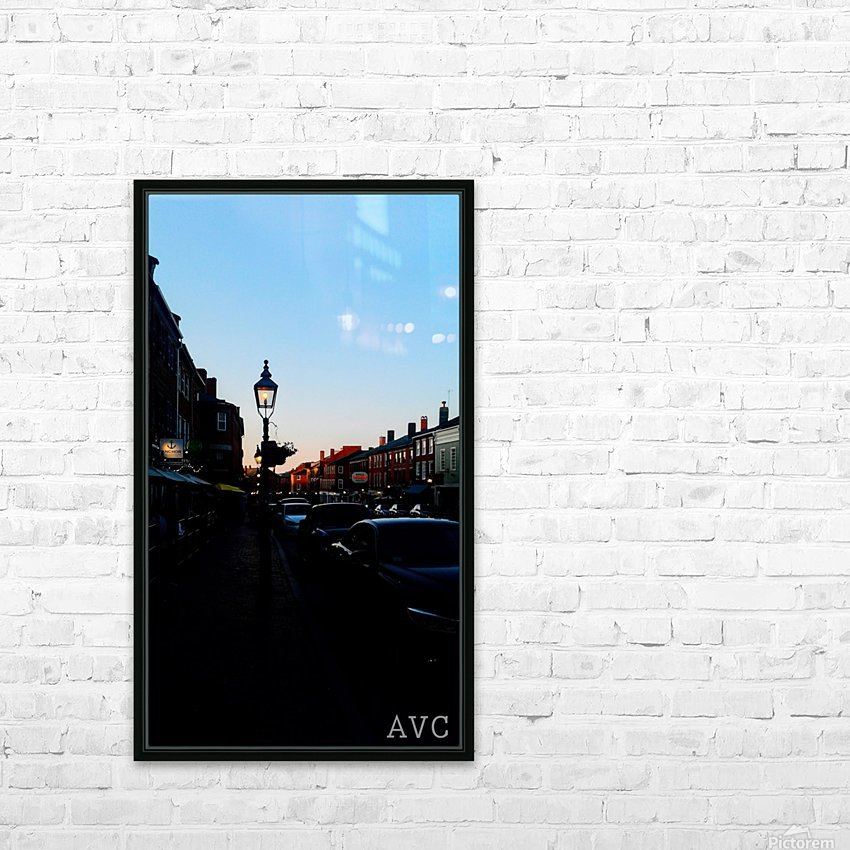 Main Street Newburyport HD Sublimation Metal print with Decorating Float Frame (BOX)