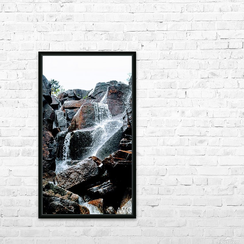 Zealand Falls NH HD Sublimation Metal print with Decorating Float Frame (BOX)