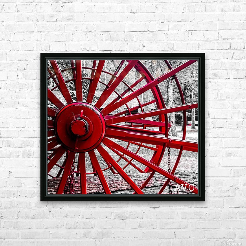 Wagon Wheel HD Sublimation Metal print with Decorating Float Frame (BOX)
