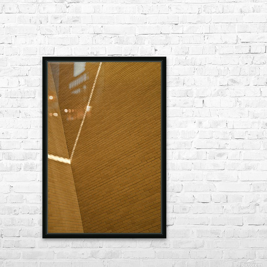Bending Light on Brick HD Sublimation Metal print with Decorating Float Frame (BOX)