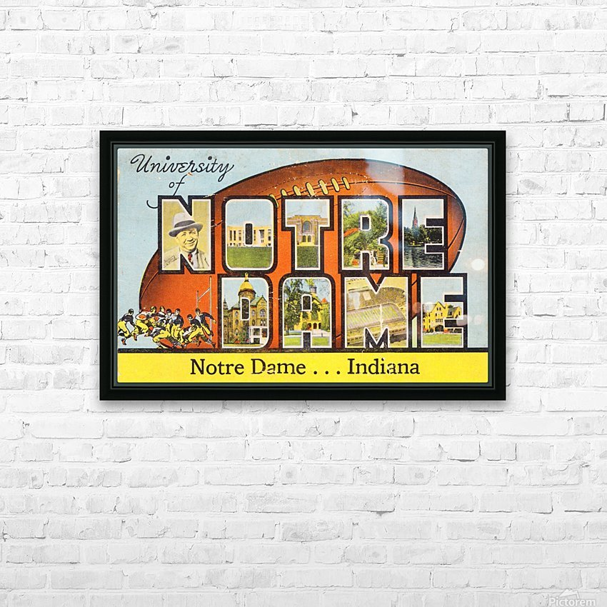 1954 notre dame football south bend art HD Sublimation Metal print with Decorating Float Frame (BOX)