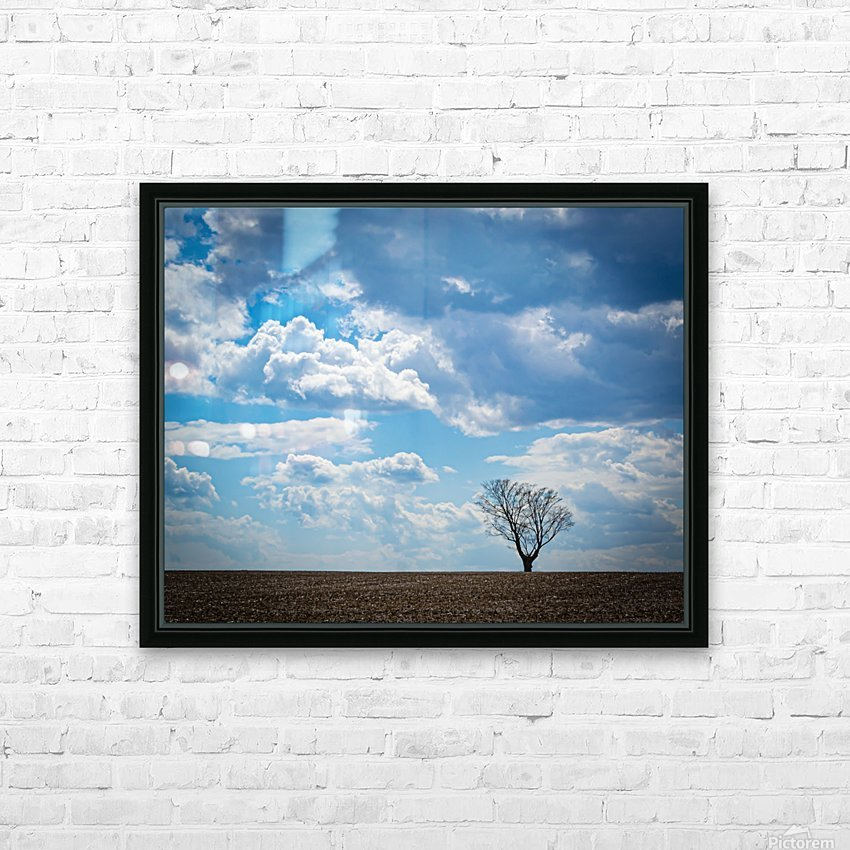 Alone With My Thoughts HD Sublimation Metal print with Decorating Float Frame (BOX)