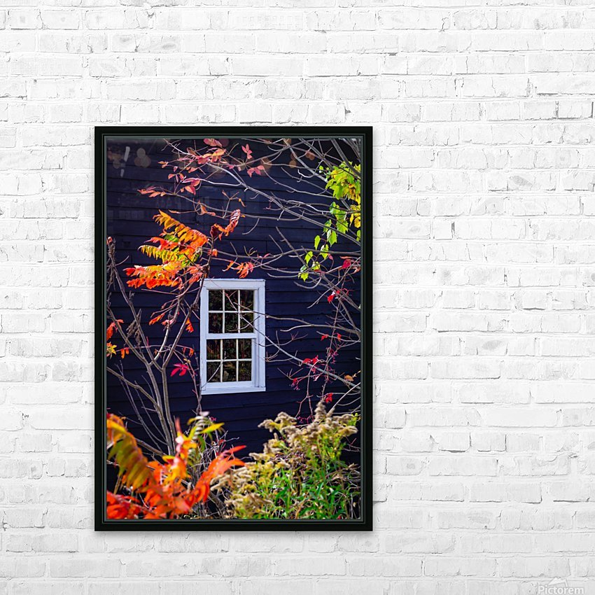Autumn Window HD Sublimation Metal print with Decorating Float Frame (BOX)