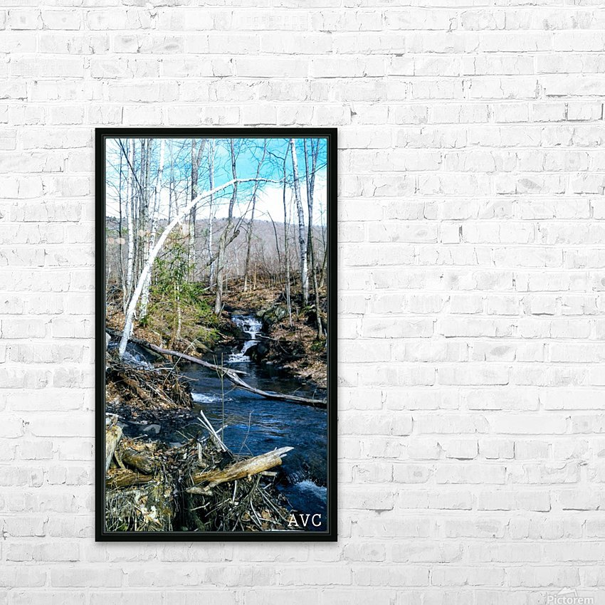 Brook through the Forest HD Sublimation Metal print with Decorating Float Frame (BOX)