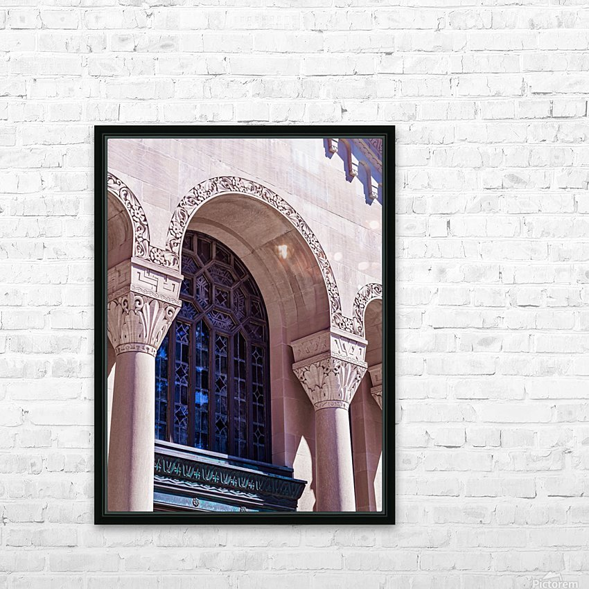 Foster Memorial Window HD Sublimation Metal print with Decorating Float Frame (BOX)