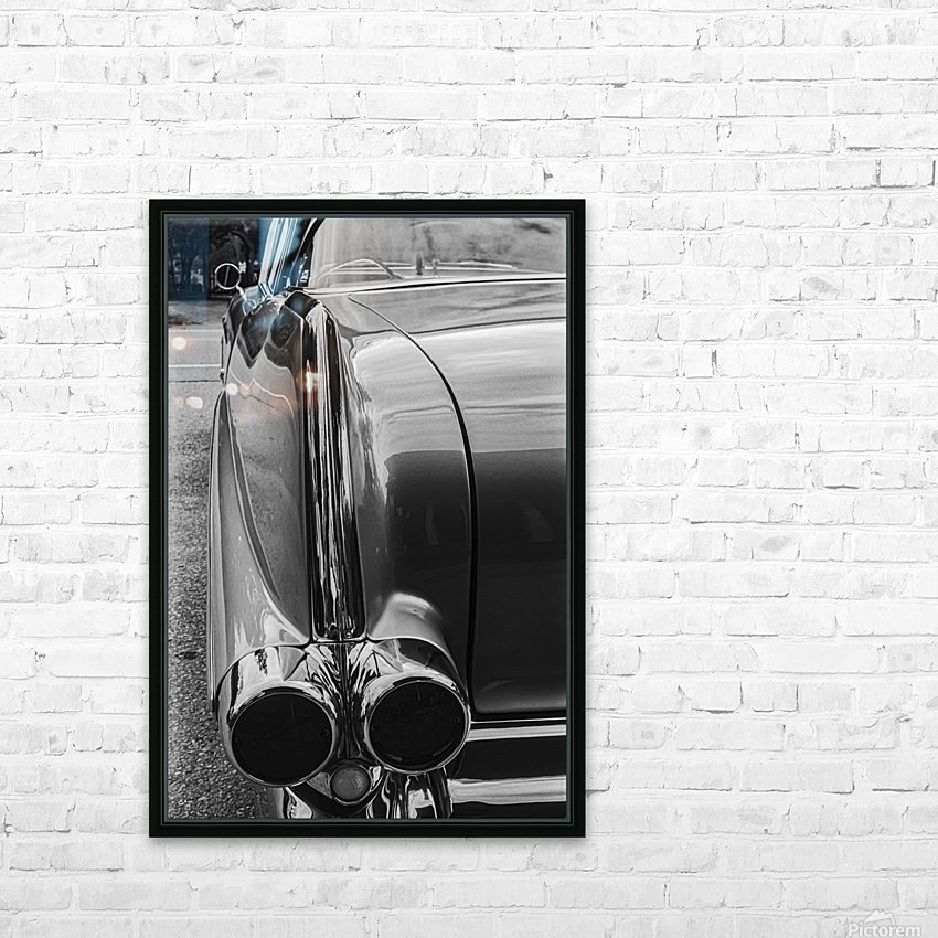 Chrome Sharkfin HD Sublimation Metal print with Decorating Float Frame (BOX)