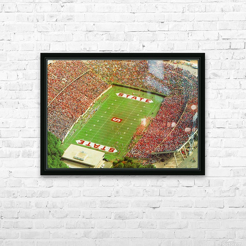 1985 nc state wolfpack carter finley stadium raleigh north carolina college football aerial photo HD Sublimation Metal print with Decorating Float Frame (BOX)