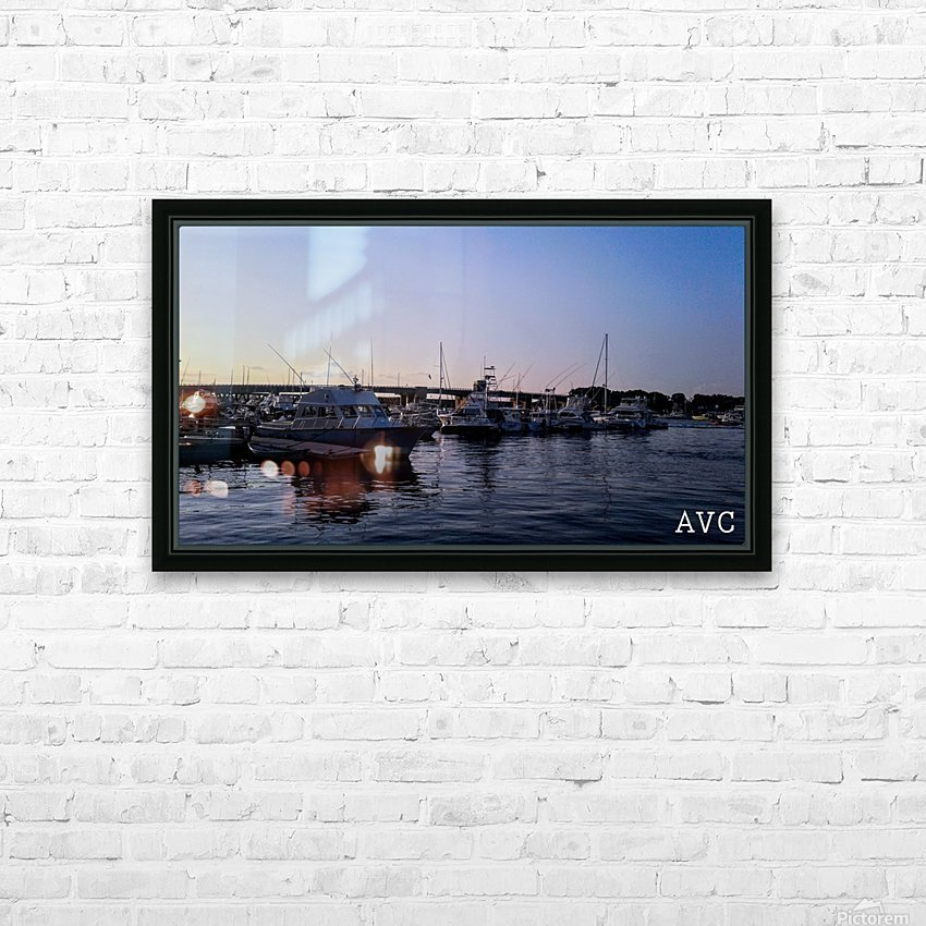 Small Harbor HD Sublimation Metal print with Decorating Float Frame (BOX)