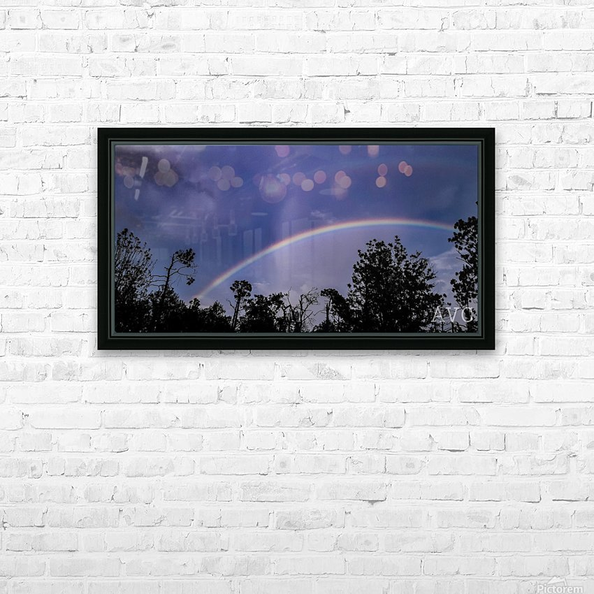 Double Rainbow Connection HD Sublimation Metal print with Decorating Float Frame (BOX)