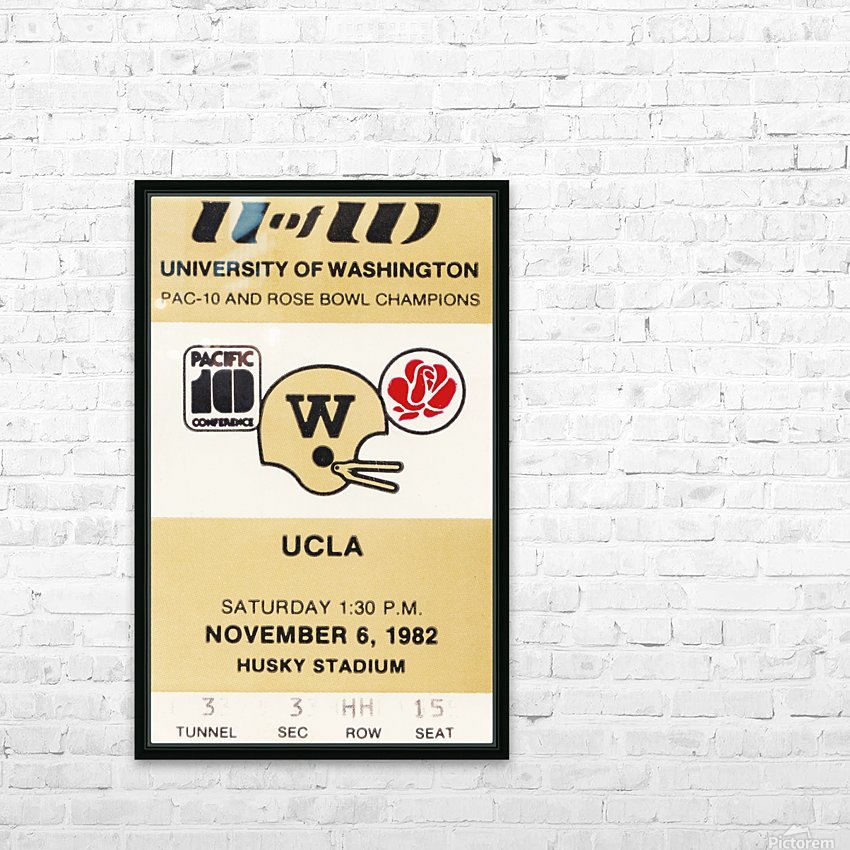 1982 uw huskies washington ucla football ticket stub canvas husky stadium seattle ticket HD Sublimation Metal print with Decorating Float Frame (BOX)