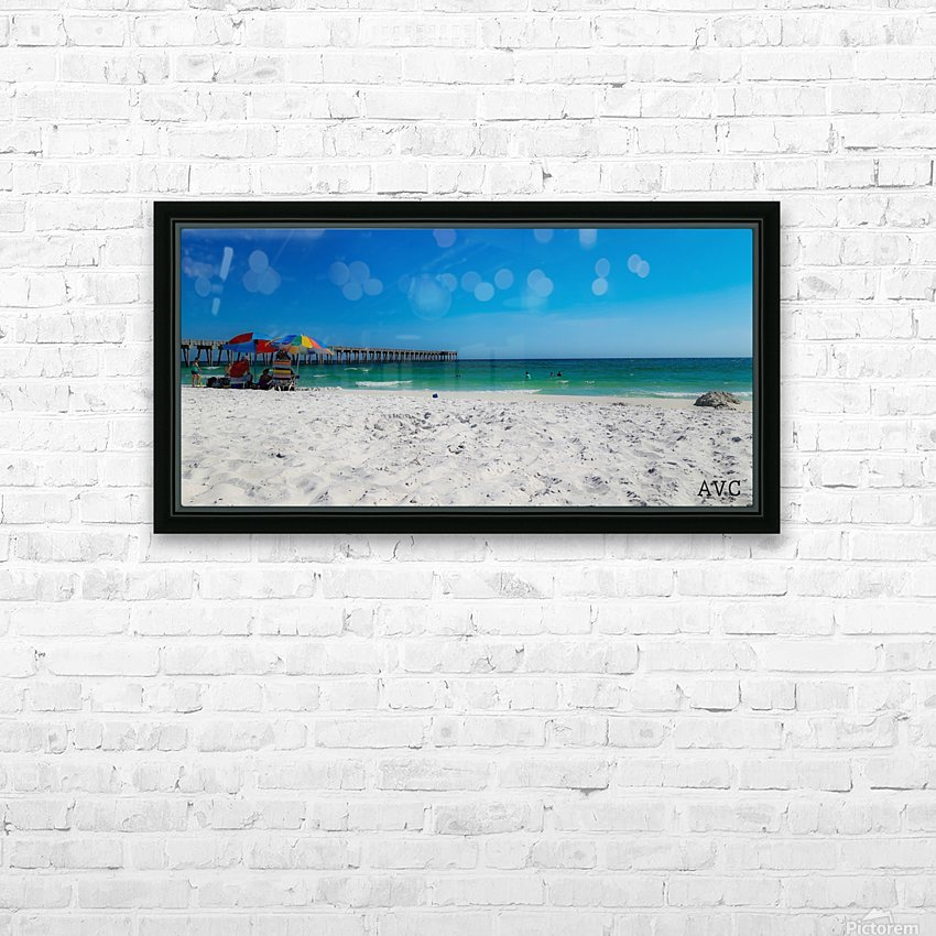 The Emerald Coast HD Sublimation Metal print with Decorating Float Frame (BOX)