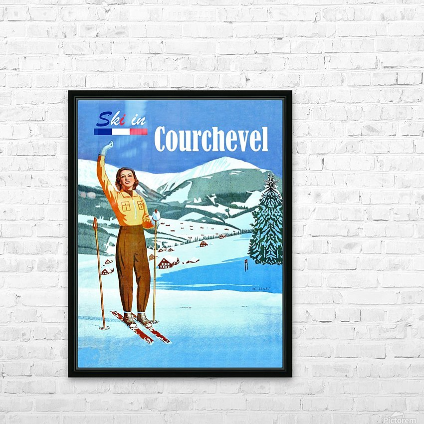 Ski in Courchevel HD Sublimation Metal print with Decorating Float Frame (BOX)