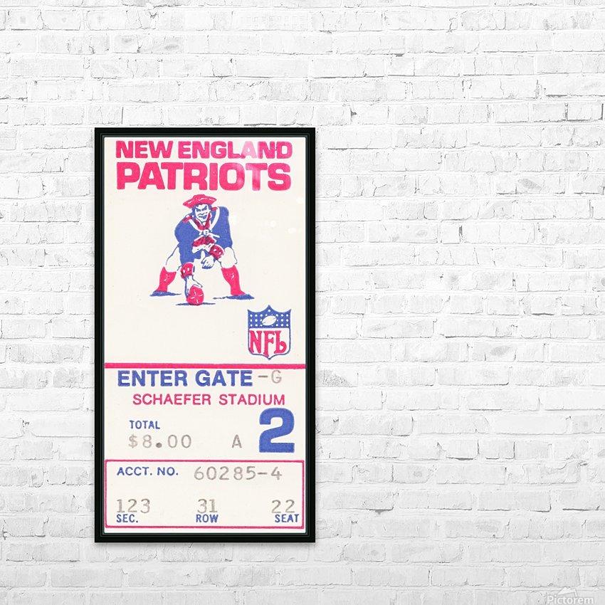1972 new england patriots schaefer stadium art HD Sublimation Metal print with Decorating Float Frame (BOX)