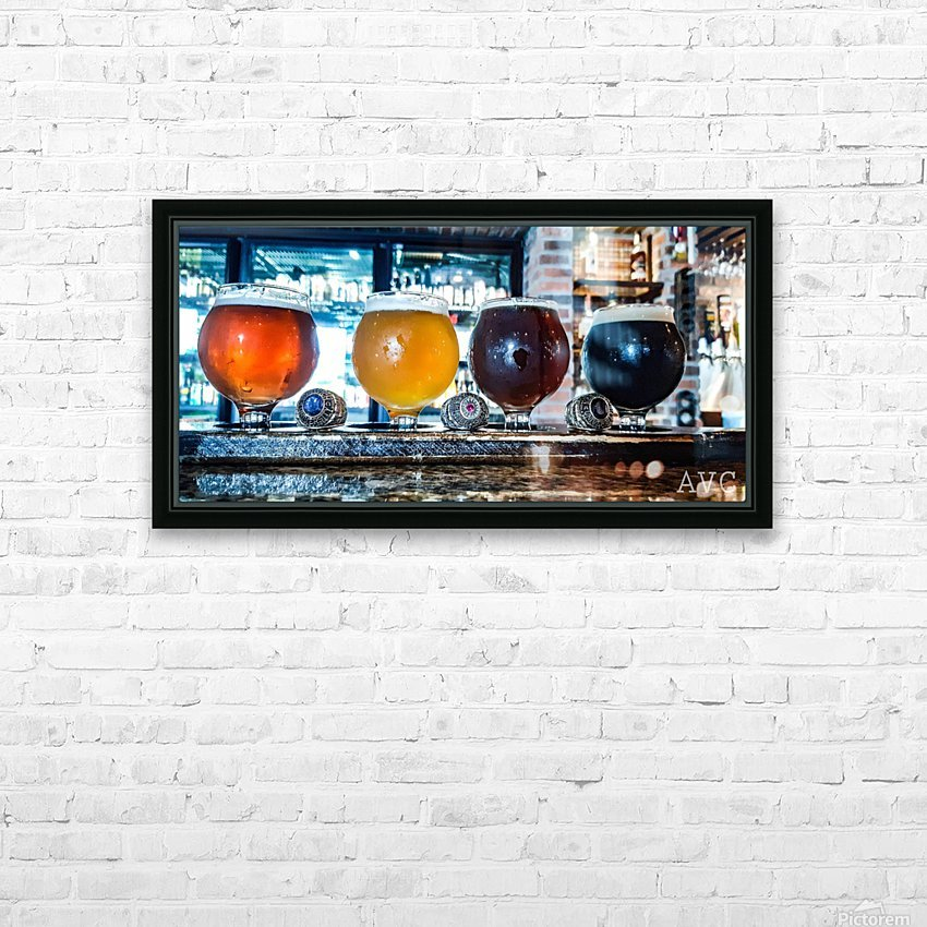 Good Beer with Good Friends HD Sublimation Metal print with Decorating Float Frame (BOX)