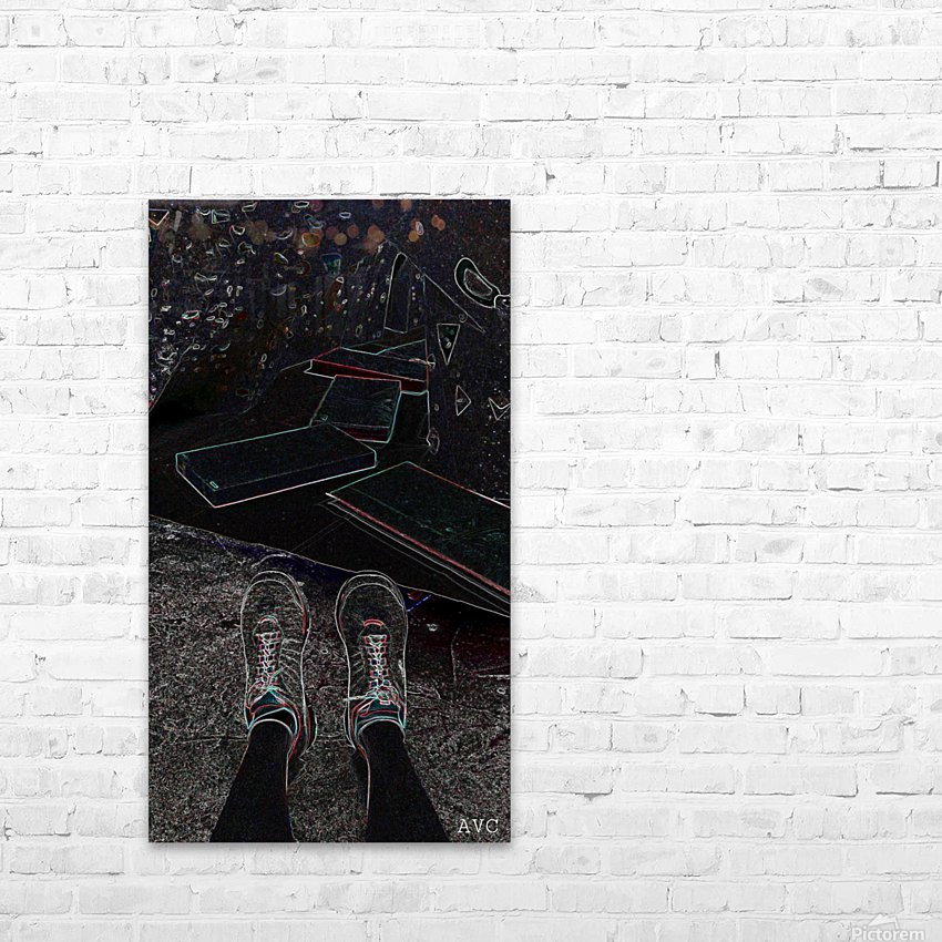 Rock Climbing Feets HD Sublimation Metal print with Decorating Float Frame (BOX)